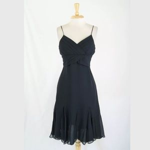 Ted Baker Silk Chiffon Ruffle Hem Dress